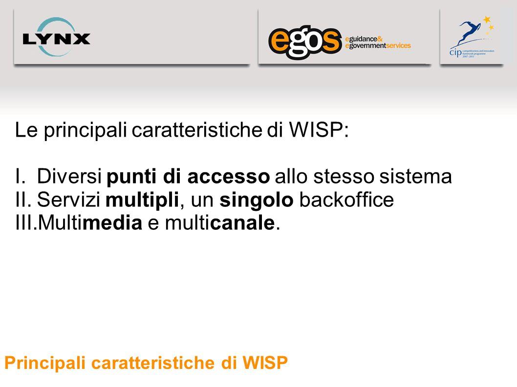 Principali caratteristiche di WISP