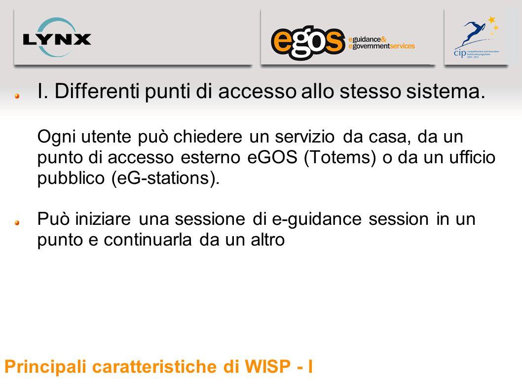Principali caratteristiche di WISP - I