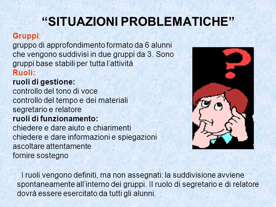 SITUAZIONI PROBLEMATICHE