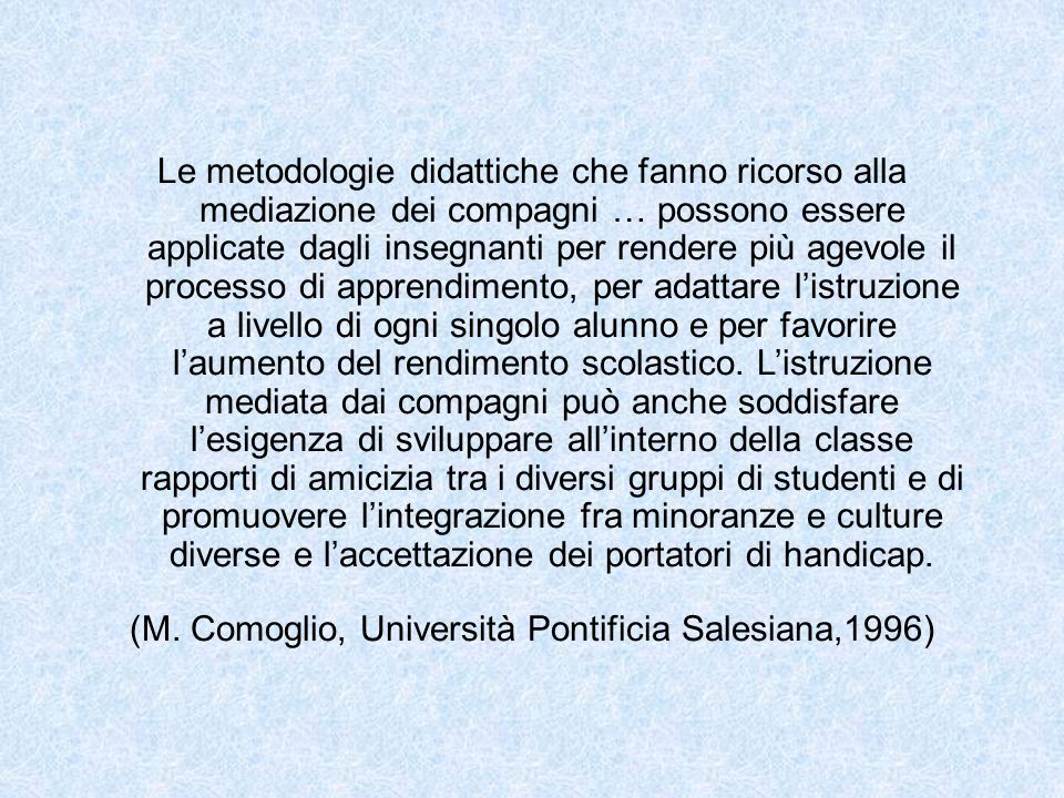 (M. Comoglio, Università Pontificia Salesiana,1996)