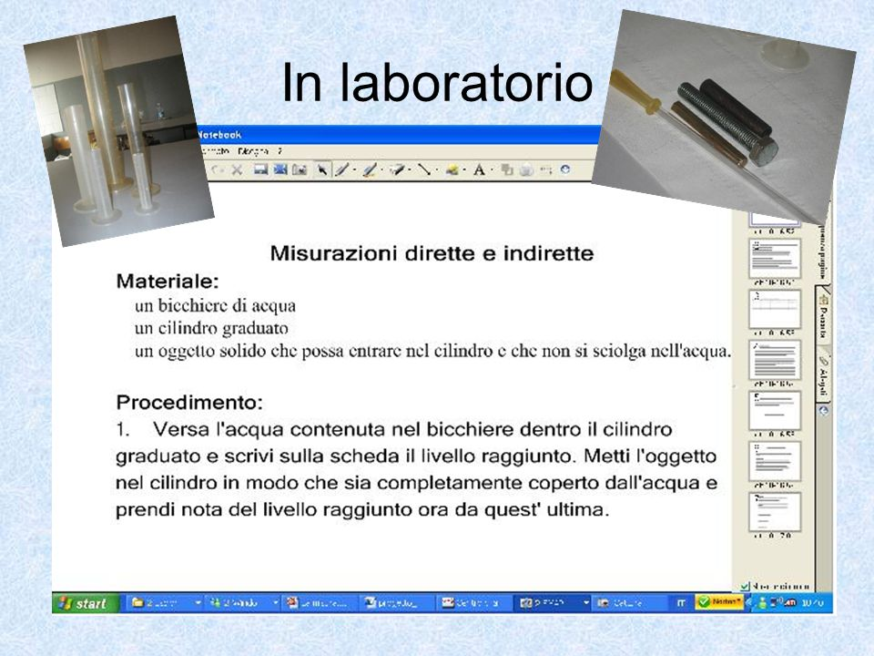 In laboratorio