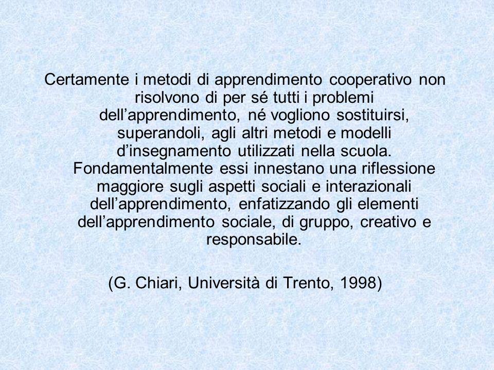 (G. Chiari, Università di Trento, 1998)