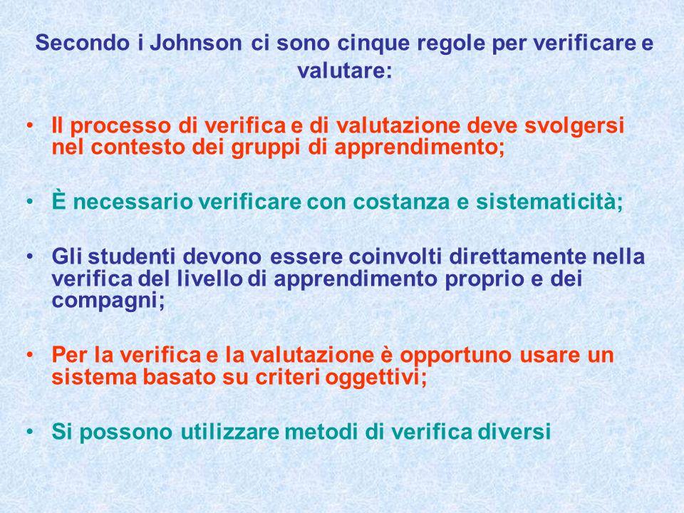 Secondo i Johnson ci sono cinque regole per verificare e