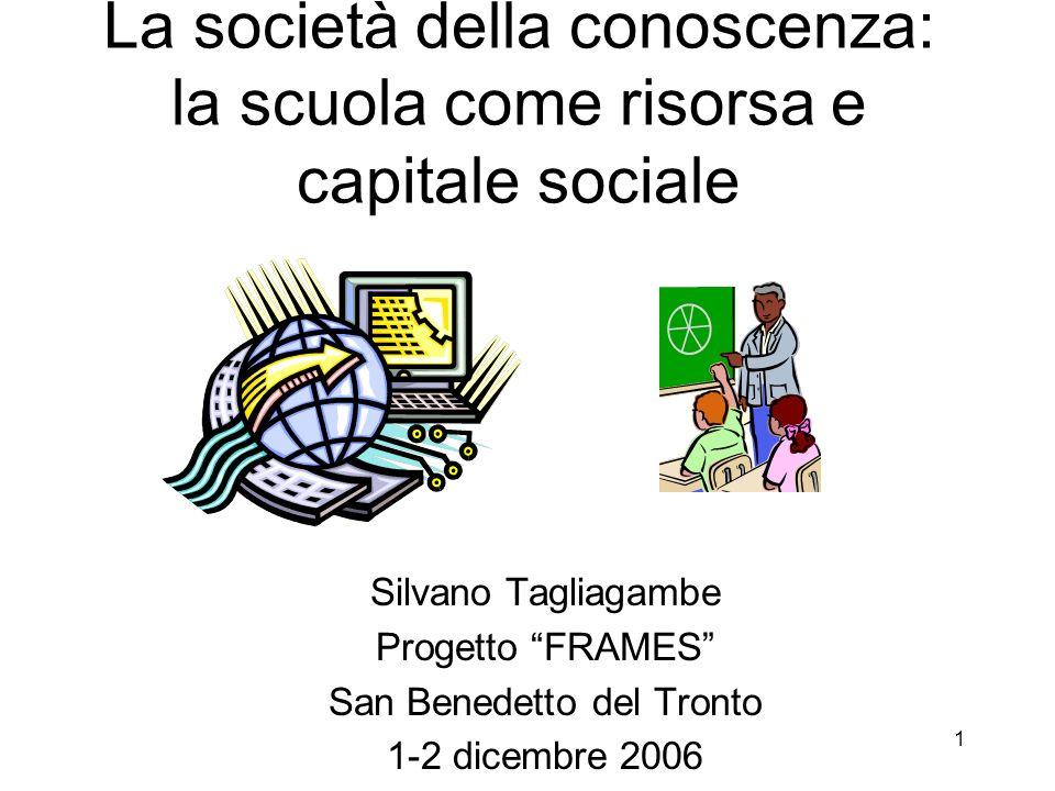 La società della conoscenza: la scuola come risorsa e capitale sociale