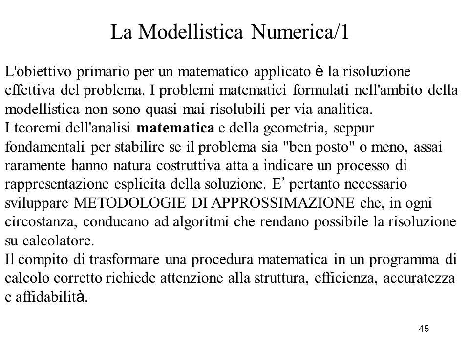 La Modellistica Numerica/1