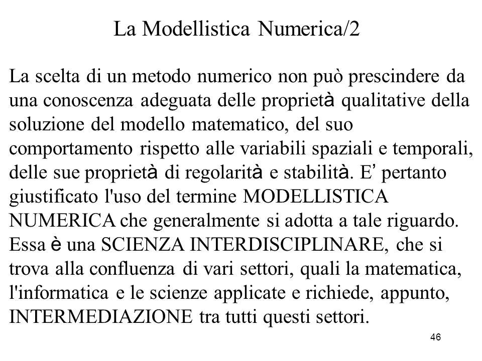 La Modellistica Numerica/2