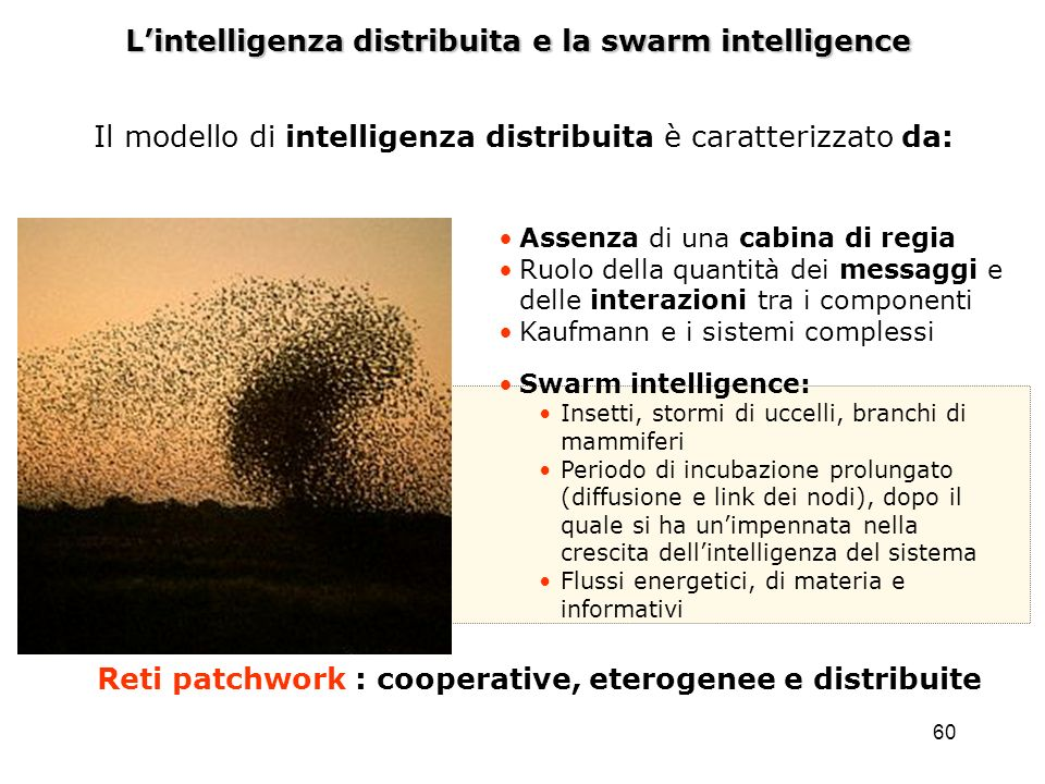 L'intelligenza distribuita e la swarm intelligence