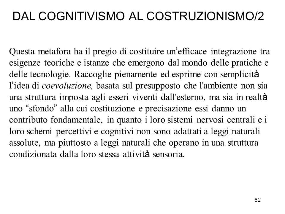DAL COGNITIVISMO AL COSTRUZIONISMO/2