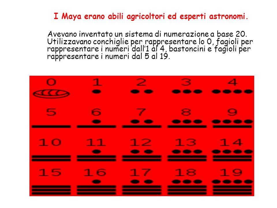 I Maya erano abili agricoltori ed esperti astronomi.