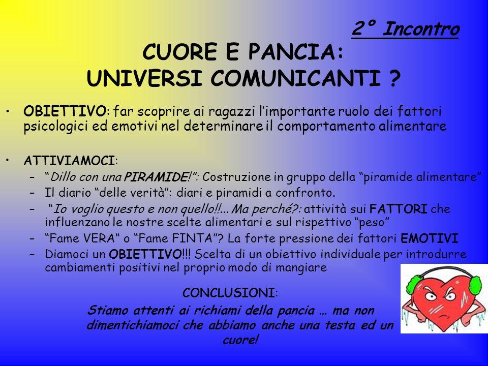 CUORE E PANCIA: UNIVERSI COMUNICANTI