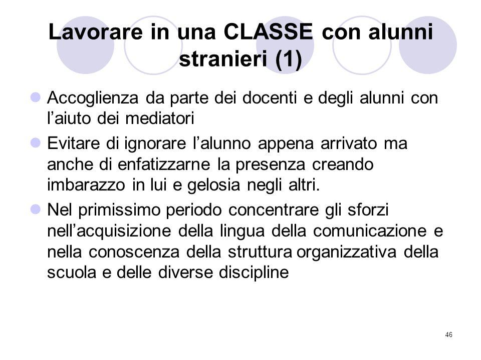 Lavorare in una CLASSE con alunni stranieri (1)