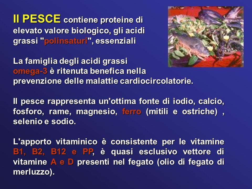 Il PESCE contiene proteine di