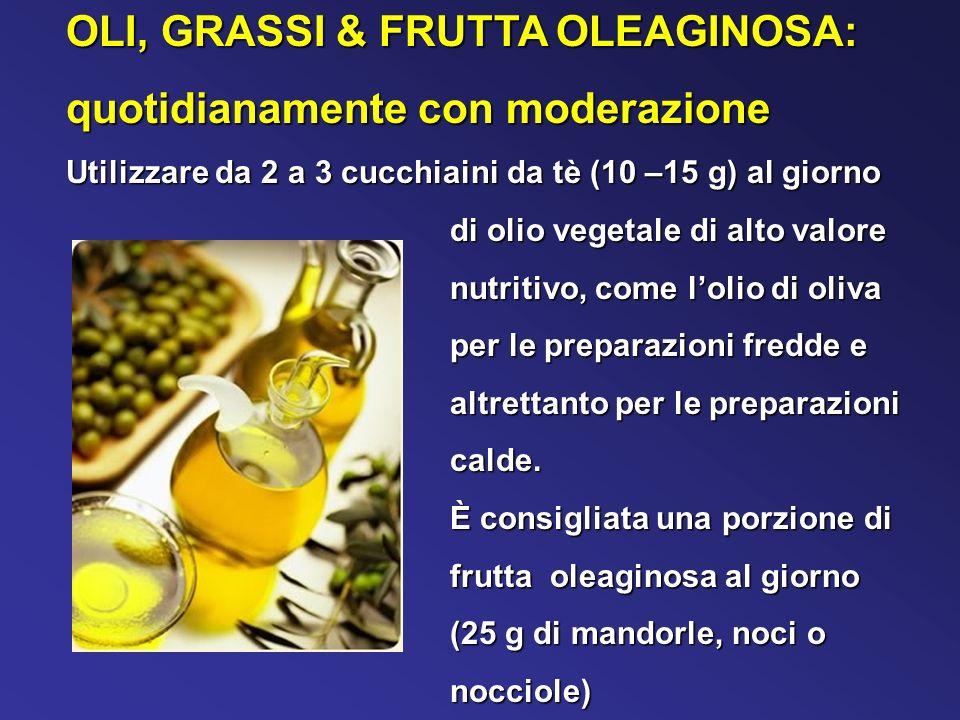 OLI, GRASSI & FRUTTA OLEAGINOSA: quotidianamente con moderazione