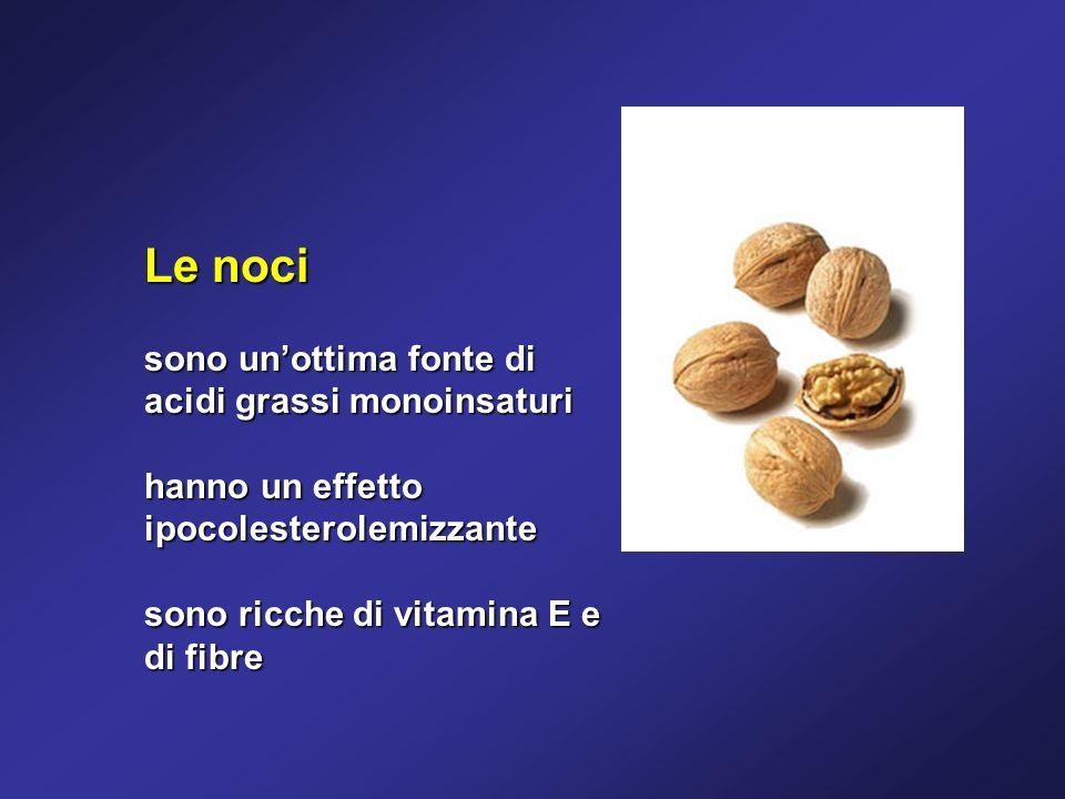 Le noci sono un'ottima fonte di acidi grassi monoinsaturi