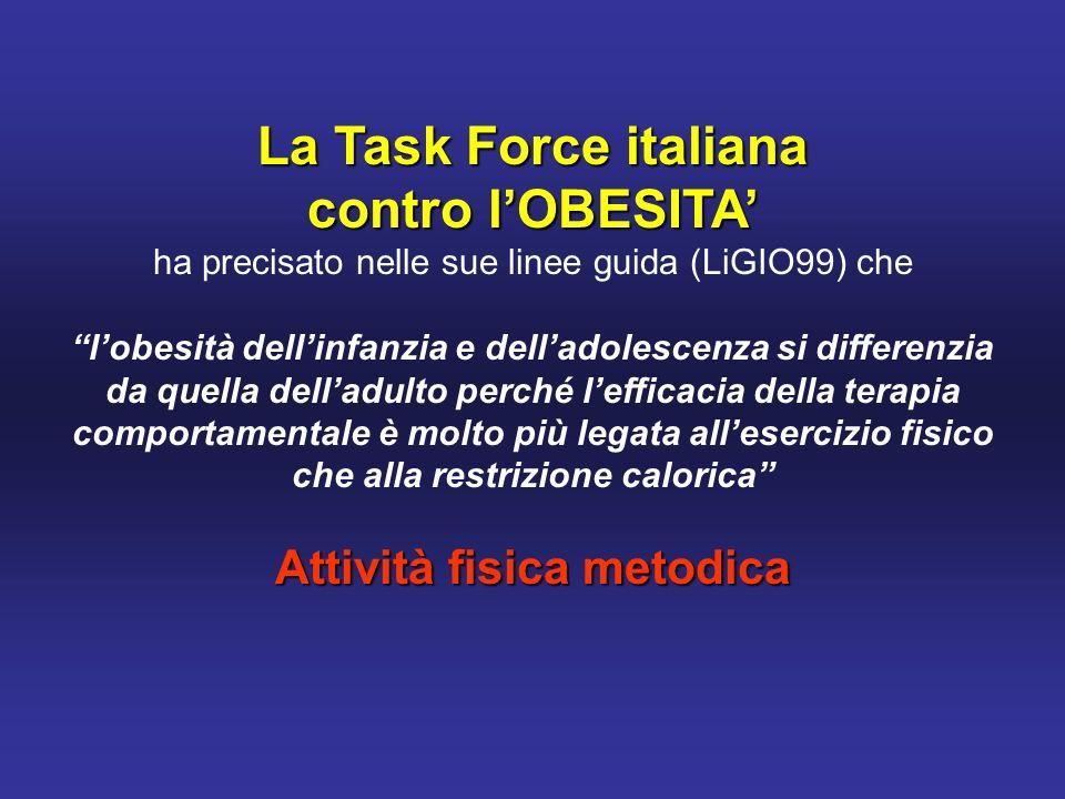 La Task Force italiana contro l'OBESITA' Attività fisica metodica