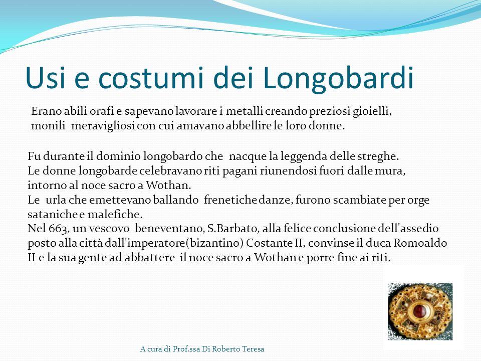 Usi e costumi dei Longobardi