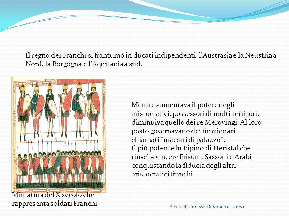 Miniatura del X secolo che rappresenta soldati Franchi