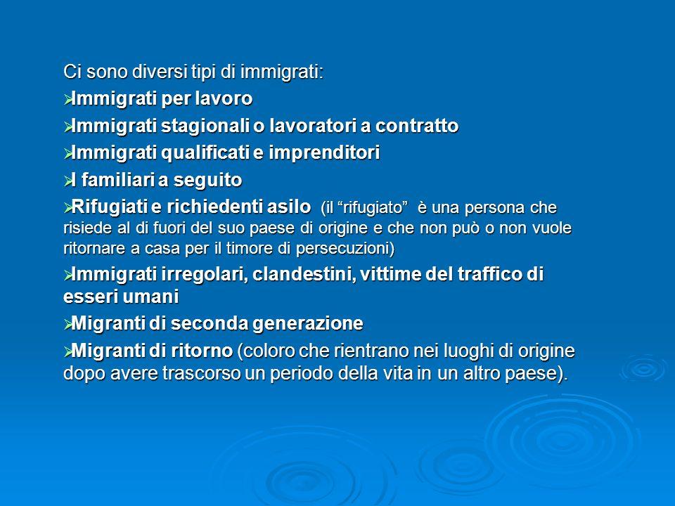 Ci sono diversi tipi di immigrati: