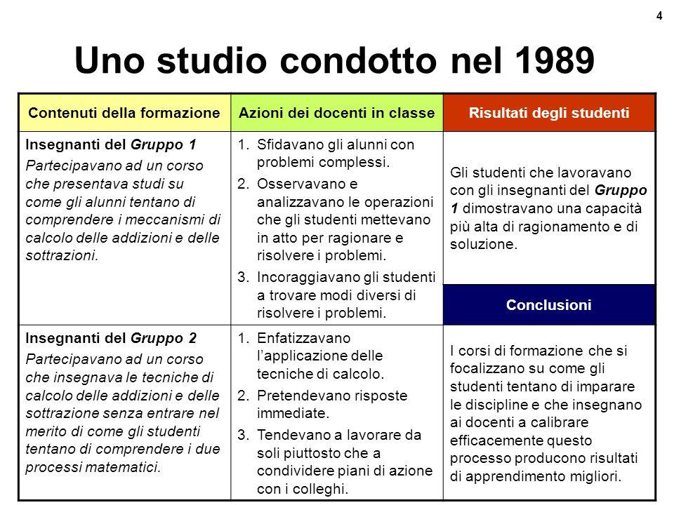 Uno studio condotto nel 1989
