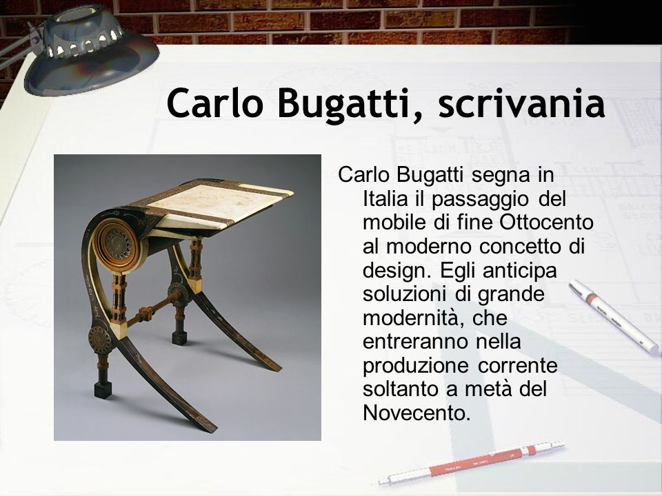 Carlo Bugatti, scrivania