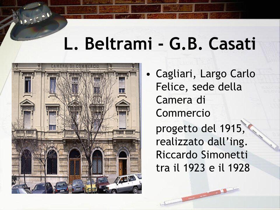 L. Beltrami - G.B. Casati Cagliari, Largo Carlo Felice, sede della Camera di Commercio.
