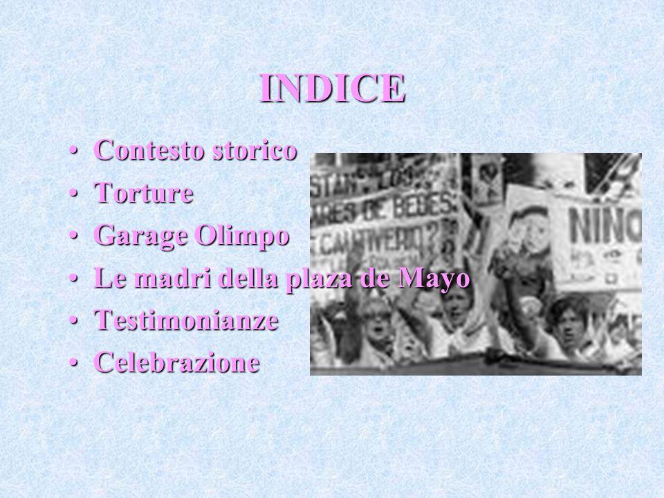 INDICE Contesto storico Torture Garage Olimpo
