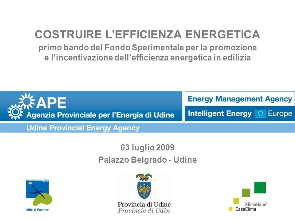 COSTRUIRE L'EFFICIENZA ENERGETICA