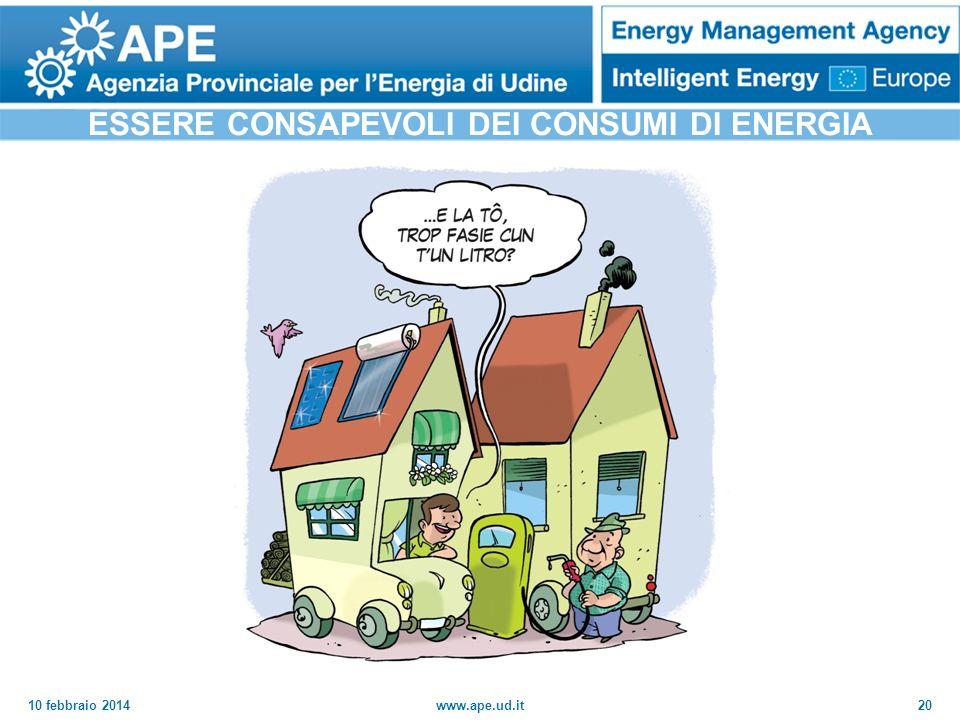 ESSERE CONSAPEVOLI DEI CONSUMI DI ENERGIA