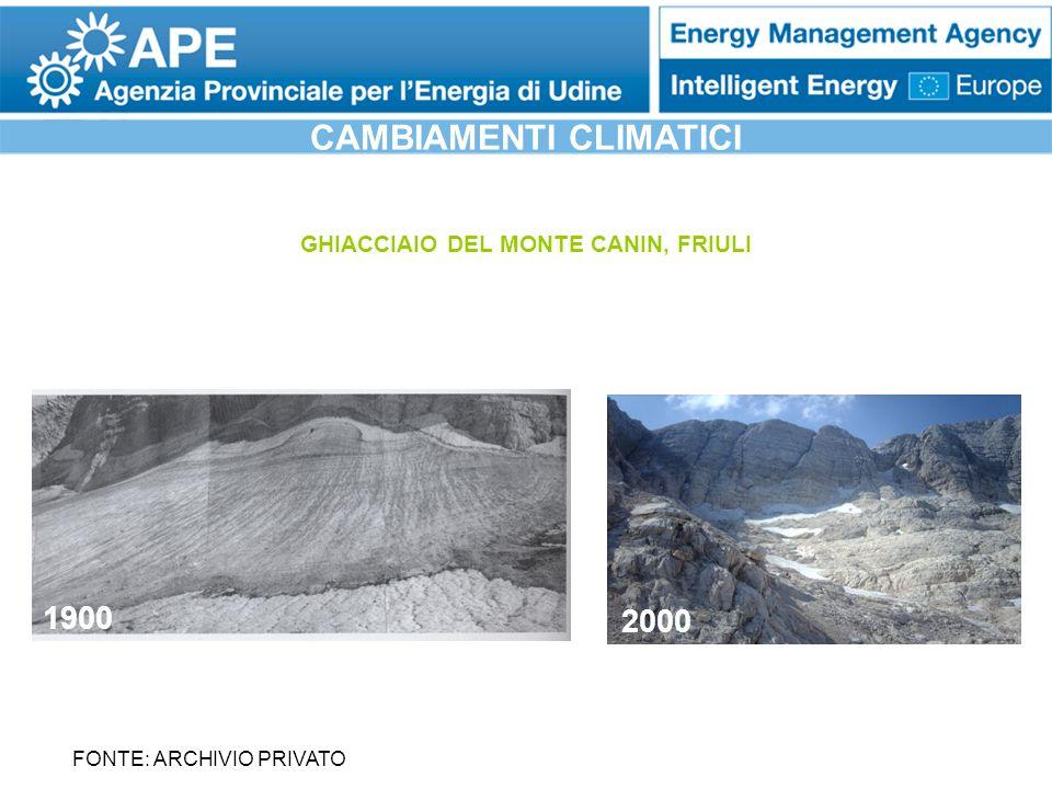 CAMBIAMENTI CLIMATICI GHIACCIAIO DEL MONTE CANIN, FRIULI