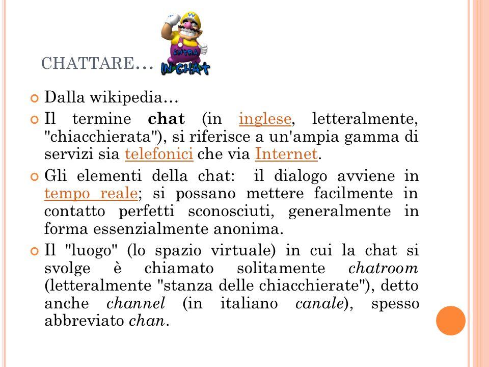 chattare… Dalla wikipedia…