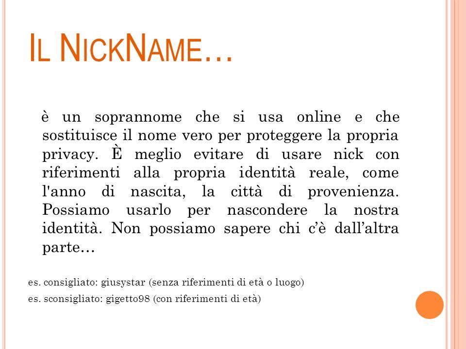 Il NickName…