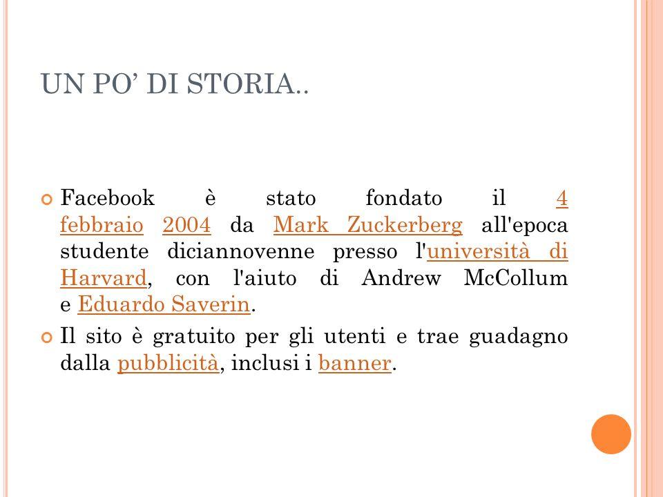 UN PO' DI STORIA..