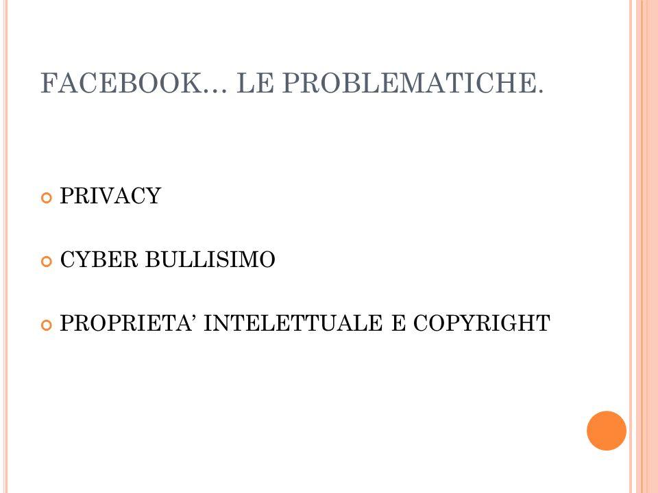 FACEBOOK… LE PROBLEMATICHE.