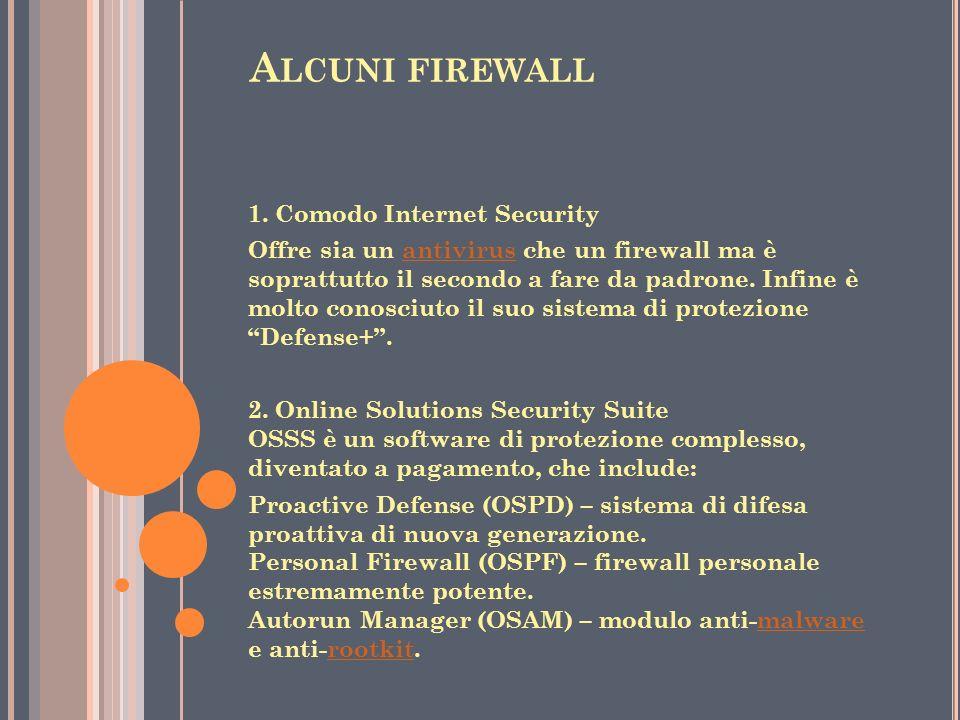 Alcuni firewall 1. Comodo Internet Security