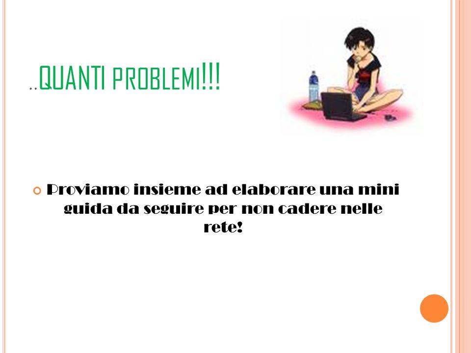..quanti problemi!!.