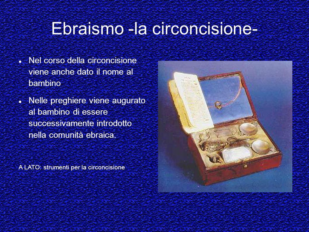 Ebraismo -la circoncisione-