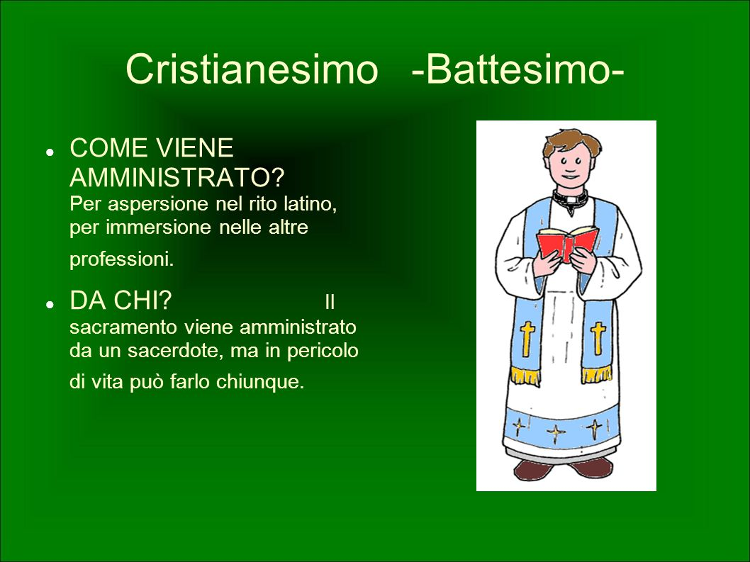 Cristianesimo -Battesimo-