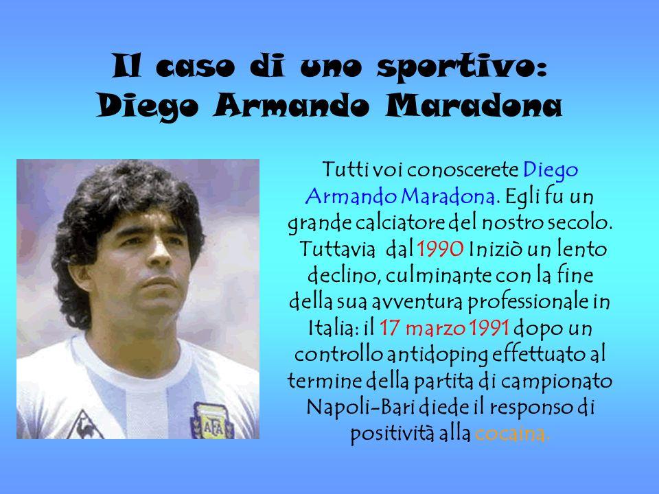 Il caso di uno sportivo: Diego Armando Maradona