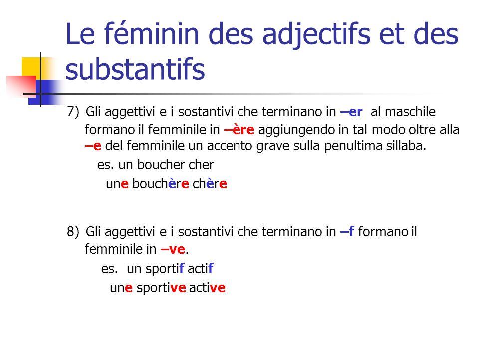 Le féminin des adjectifs et des substantifs