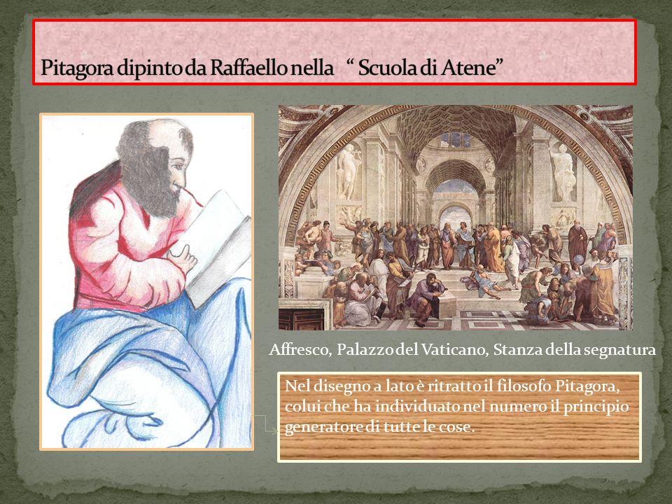 Pitagora dipinto da Raffaello nella Scuola di Atene