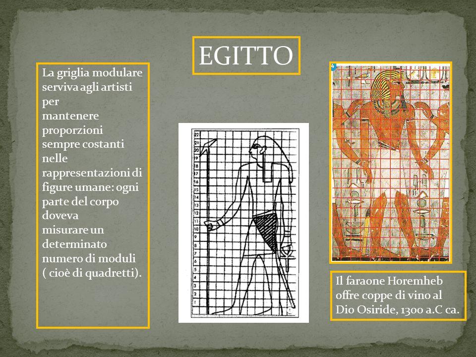 EGITTO La griglia modulare serviva agli artisti per