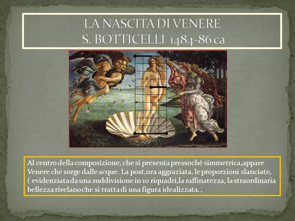 LA NASCITA DI VENERE S. BOTTICELLI 1484-86 ca