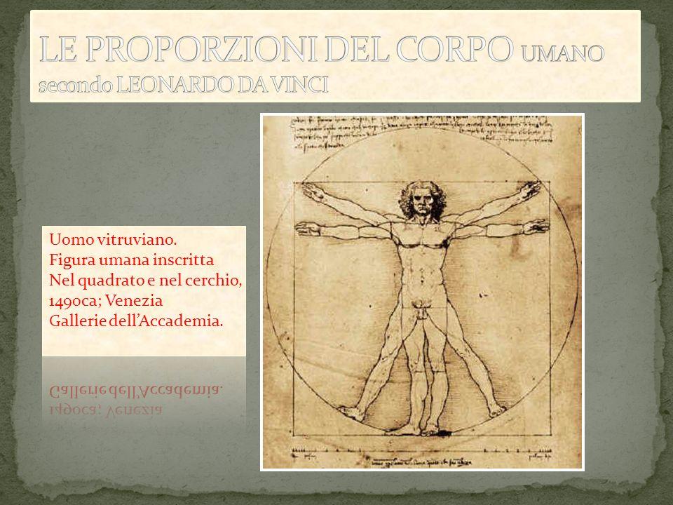 LE PROPORZIONI DEL CORPO UMANO secondo LEONARDO DA VINCI