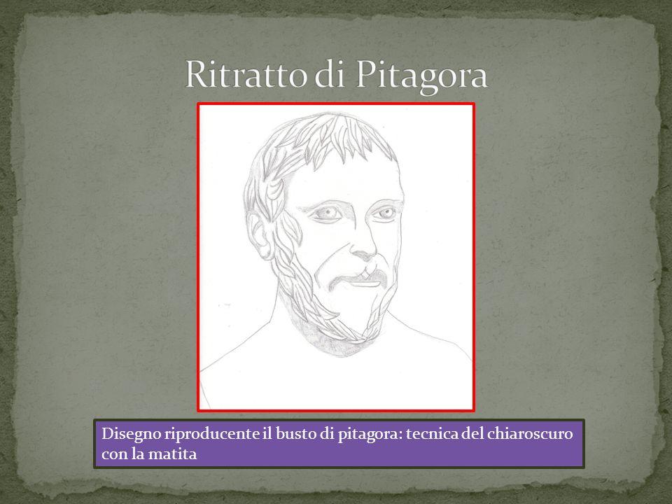 Ritratto di Pitagora Disegno riproducente il busto di pitagora: tecnica del chiaroscuro.