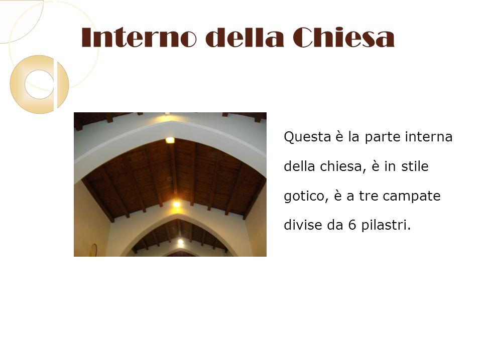 Interno della Chiesa Questa è la parte interna
