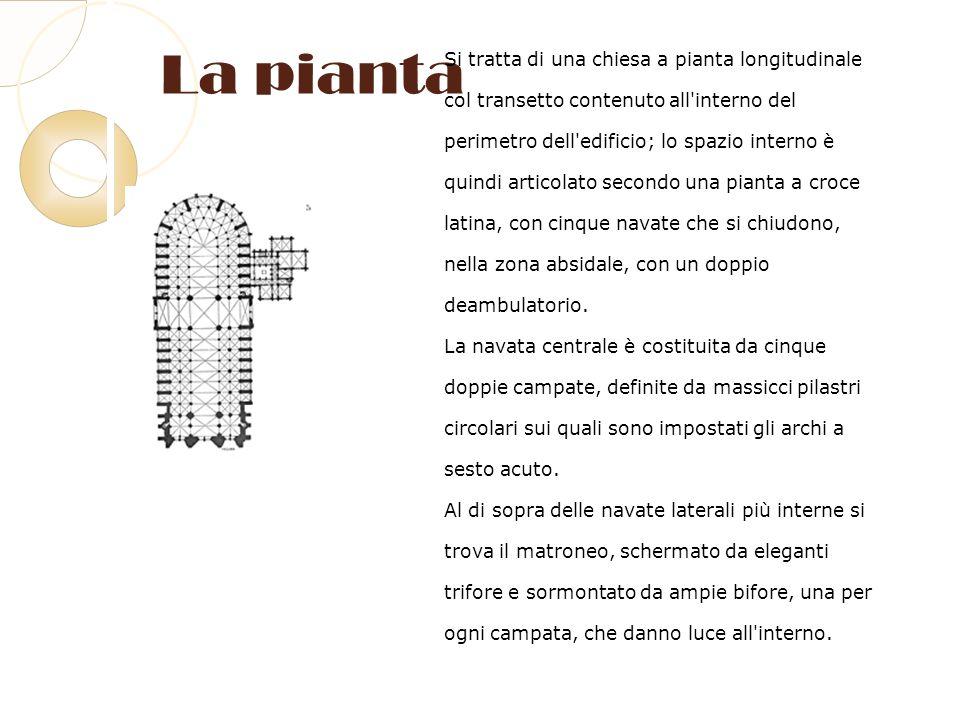 La pianta Si tratta di una chiesa a pianta longitudinale
