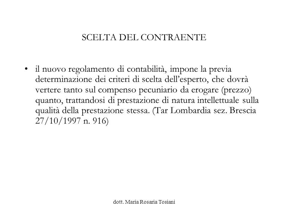 dott. Maria Rosaria Tosiani