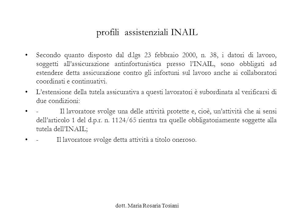 profili assistenziali INAIL