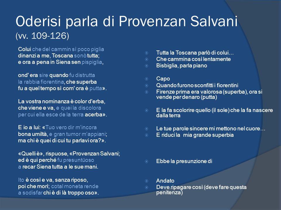 Oderisi parla di Provenzan Salvani (vv. 109-126)