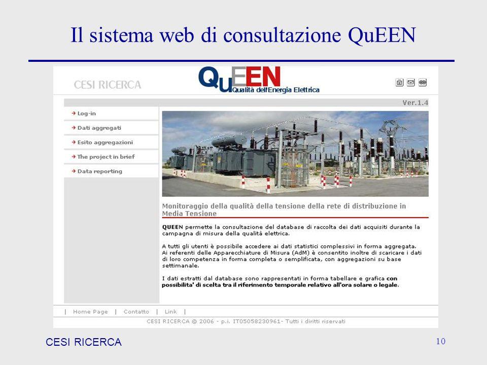 Il sistema web di consultazione QuEEN